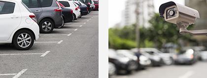 無人駐車場監視