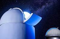天文台の屋根の自動開閉