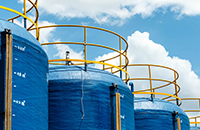 貯水槽、養殖場タンク内の異常水位監視